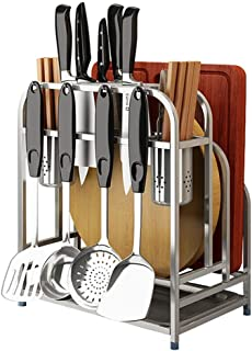 Dxbqm Organisateur de Rangement Cuisine Maison Couteau Cuisine Support en Acier Inoxydable Drain Planche à découper ménage...