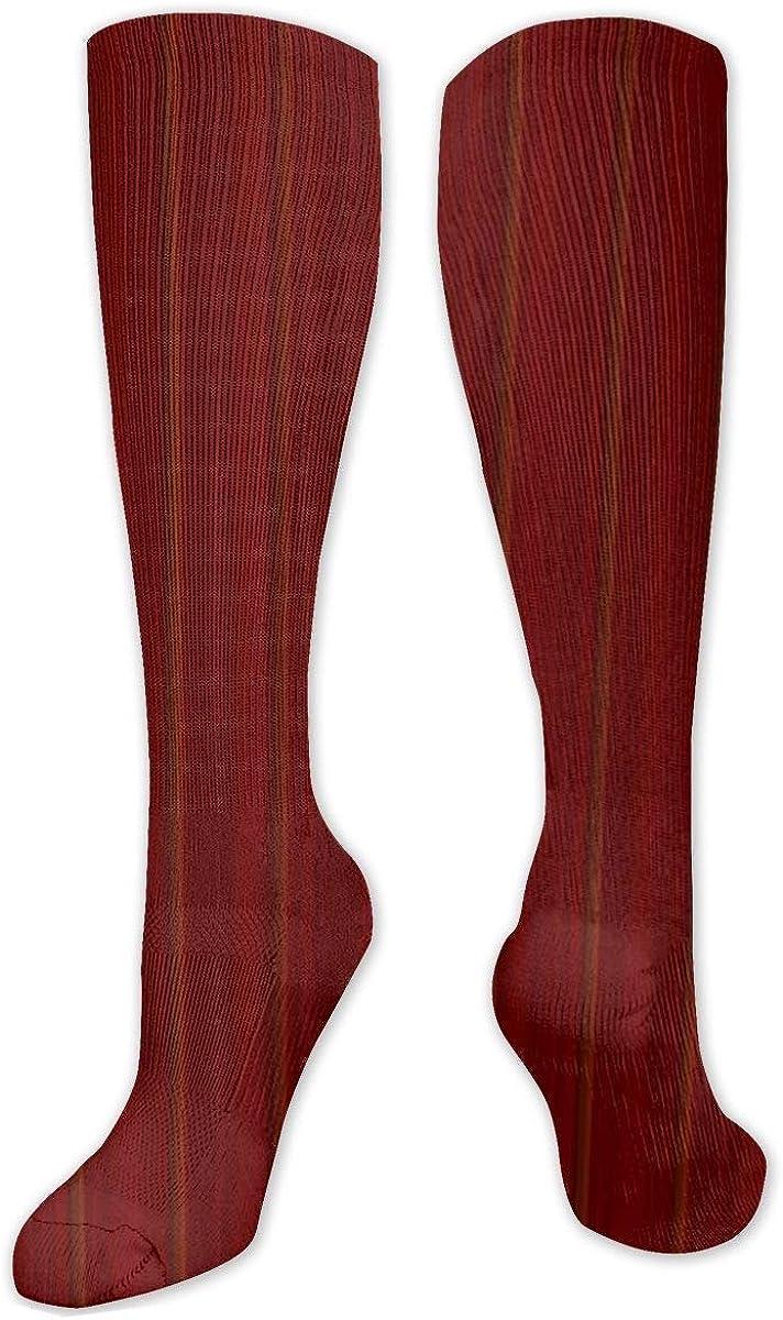 WoodgrainBackground Knee High Socks Leg Warmer Dresses Long Boot Stockings For Womens Cosplay Daily Wear