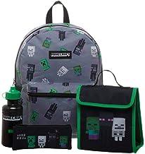 Mochila Minecraft Infantil - Set de 4 Piezas