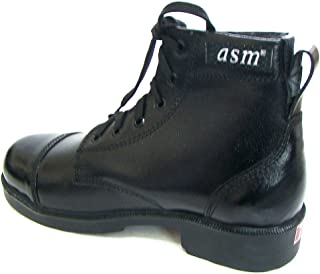 ASM Black Leather Army Parade & Drill Boots with Leather Nailed Sole