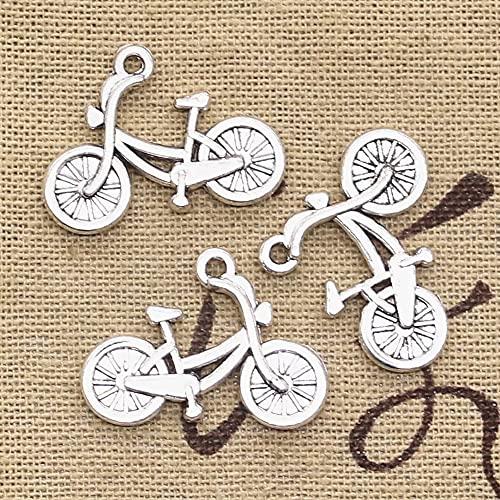 FZSWD 15 Uds encantos Bicicleta 26X18mm Colgantes Chapados en Plata Antigua Que Hacen DIY Joyería de Color Plata Tibetana Hecha A Mano