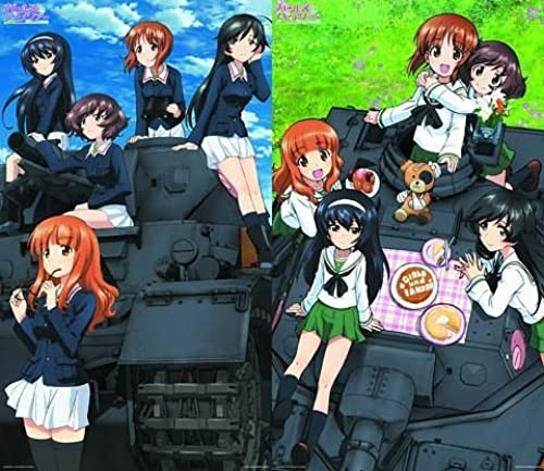 Girls & Panzer Deluxe Clear Poster whole set of 2 (japan import)