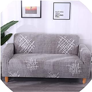 Sofa Cover Simple Pattern Sofa Cover Tight Wrap All-Inclusive Slip-Resistant Sectional Elastic Full Sofa Cover/Towel 1/2/3/4Seater,16,Four Seat Sofa