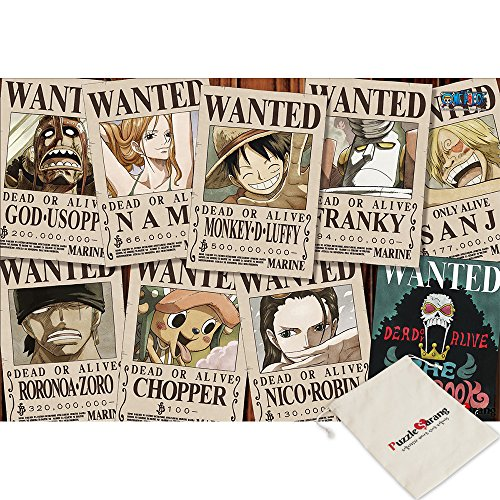 Haksan [Pouch Included] One Piece New Wanted Collection - Oda Eiichiro - 1000 Piece Jigsaw Puzzle