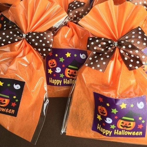 ハロウィンクッキー (10個セット ) ハートクッキー6枚入り個包装 ばら撒き 袋 業務用 プチギフト お礼 大量 景品 退職の挨拶 粗品 プレゼント ハロウィン お菓子
