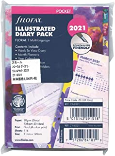 Filofax Pocket Floral Illustrated 2021 Diary Refill Pack