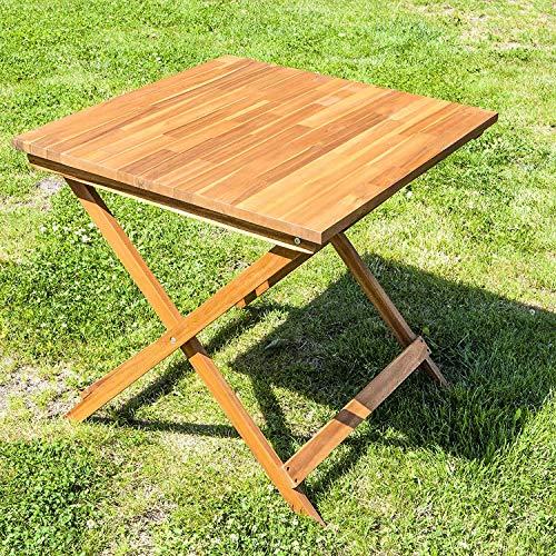 DNNAL Beistelltisch, Bistrotisch Holz Folding Terrasse Tisch Garten Terrasse Balkon Terrasse (75X75x73 cm)