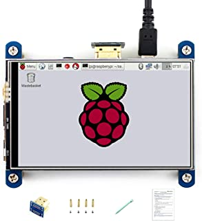 Waveshare 4 Inch HDMI LCD Display 800x480 Resistive Touch IPS Screen Supports Raspberry Pi