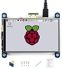 Waveshare 4inch HDMI LCD Resistive Touch Screen 800x480 High Resolution HDMI Interface IPS Screen Designed for Raspberry Pi 3 B/3 B+/2 B/B+/B