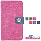 Xperia XZ Premium SO-04J ケース docomo エクスペリア xz プレミアム 収納 カードいれ 手帳型カバー 手帳型ケース スマホケース so04j07m0rbdfwa6fw 全機種対応 リネン風 白い花 可愛い 和風 大人 国内生産 Pink wvdsa6314