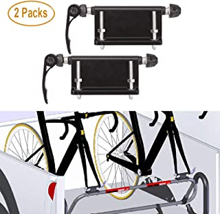 ALAVENTE 2 Pcs Bicycle Quick-Release Alloy Fork Block Mount Car Rack Carrier Holder for Car Pickup Bed