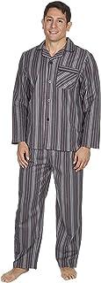 Mens Brushed Pure 100% Cotton Pyjamas Winter Warm Flannel Thermal M L XL XXL