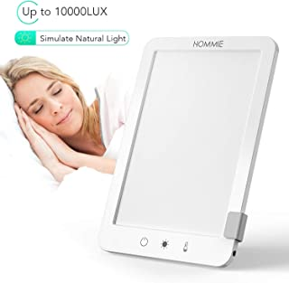 Light Therapy Lamp, Hommie 10000 Lux Full Spectrum Light UV Free SAD Lamp with 3 Adjustable Color Temperatures, Detachable Bracket, Touch Control & Compact Size