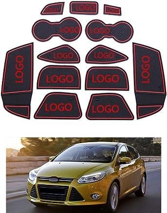 Demino Reemplazo 13pcs para Ford Focus 3 2011-2014 Antideslizante Copa del Amortiguador de Puerta