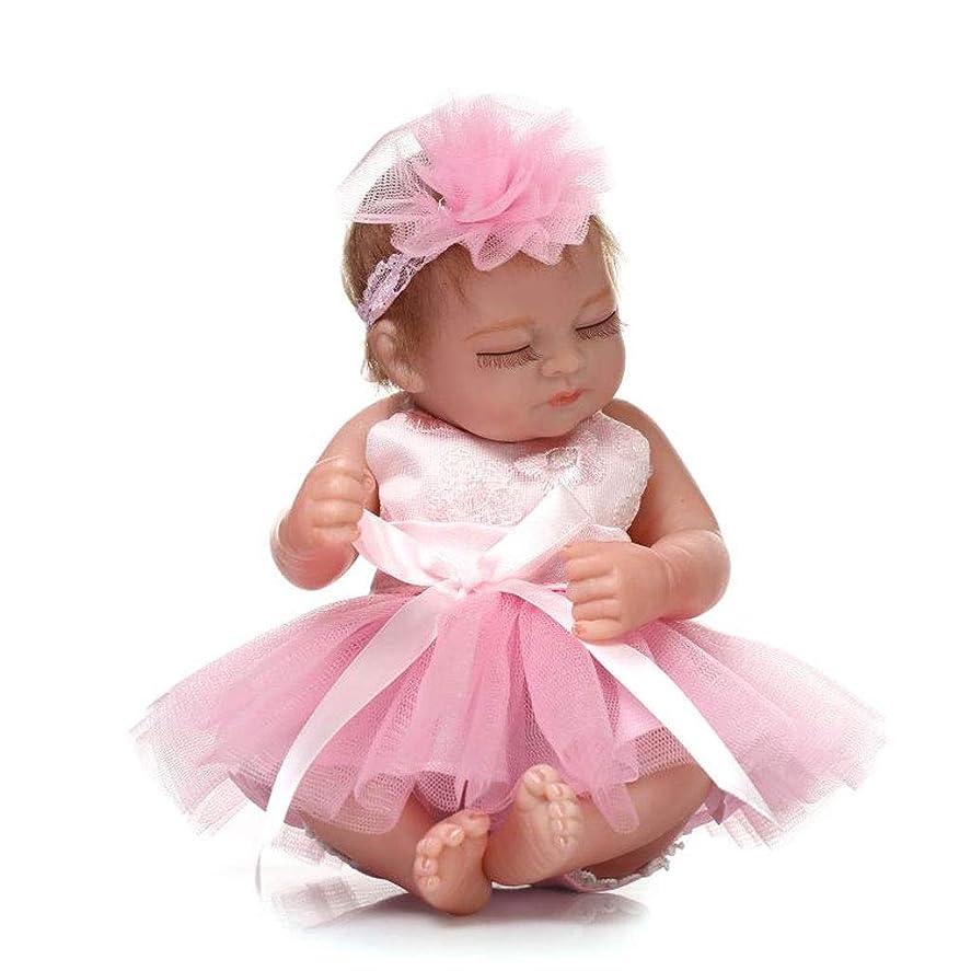 シャイニング傑出したダイアクリティカルRBDTOY 10インチのミニハードビニールシリコーンフルボディリボーンベビードールピンクのドレスクリスマス誕生日プレゼントと現実的な新生児人形