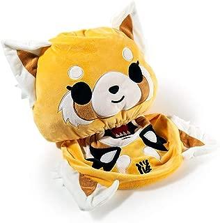 Kidrobot Aggretsuko: Sanrio Reversible Plush + 1 Official Japanese Hello Kitty Trading Card Bundle (15480)