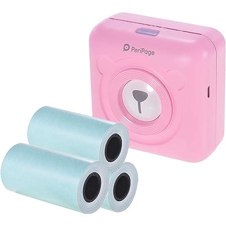 Aibecy Peripage Mini Fotodrucker Wireless Bt Thermodrucker Bildetikett Memo Sticker Drucker Belegpapierdrucker 3 Peripage Papierrollen Klebepapier 57 30 Mm Pink Bürobedarf Schreibwaren