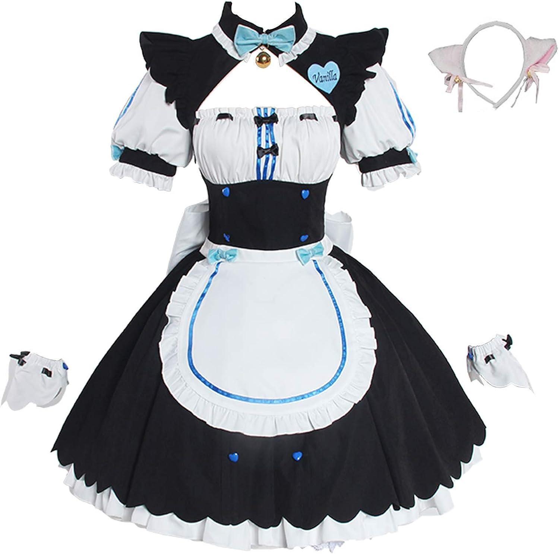 Nekopara Anime Cosplay Women Full Set Maid Girl Dre Ranking TOP19 Cat Fashion Servant