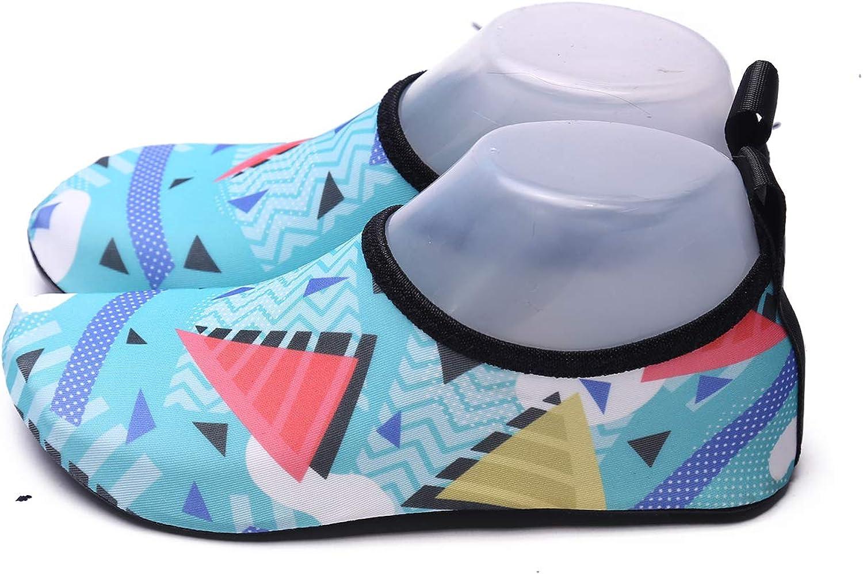 Aslipper Womens and Mens Summer Outdoor Water shoes Aqua Socks for Beach Swim Surf Yoga Exercise (XXS(US Little Kid 12-13), Ocean bluee6)