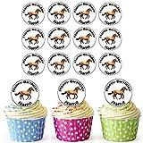 Farm Horse 24 adornos comestibles para magdalenas, decoración para tartas de cumpleaños, círculos precortados fáciles