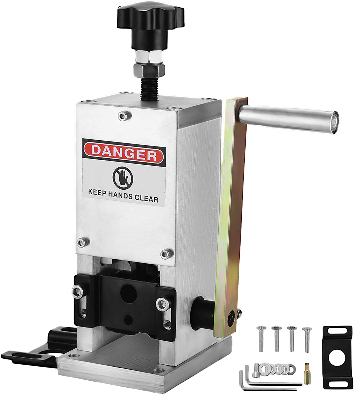 Autovictoria Máquina Pelacables Manual Cable Stripping Machine Φ1.5mm ~ Φ25m m Máquina de Desmontaje del Alambre de la Lámina Herramienta Manual de la Manivela
