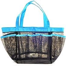 JQZLXXZL Swimming Basket Bathroom Storage Basket Shower Bag Shower Bag Bathroom Waterproof Bag Wash Bag Bath Basket Mesh Bath Basket (Color : Blue)