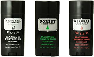 Herban Cowboy Deodorant Maximum Protection, 2.8 Ounce Variety Pack (Forest, Dusk, Wild)