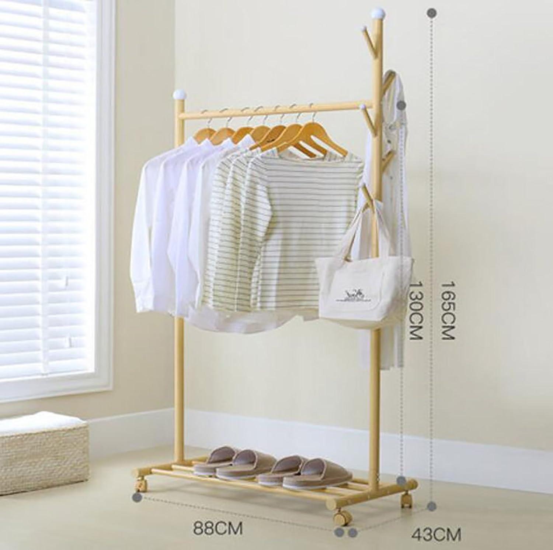 Floor Coat Rack Bedroom Multifunctional Clothes Rack Household Coat Rack greenical Hanger (color   B)