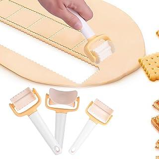 Colmanda Cookie Cutter, 3 Pièces Kit de Moule à Biscuit Plastique Découpoir Multifonctions Accessoires De Cuisine Outil po...
