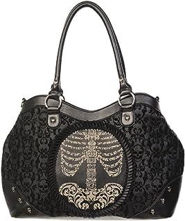 Banned Damen Handtasche - Schultertasche Skeleton Portrait
