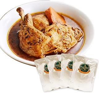 【Amazon.co.jp限定】北国の丸ごとチキンレッグスープカレー 4食セット 中辛 北国からの贈り物
