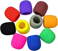 VHLL 10 PC Colorful Handheld Stage Microphone Windscreen Foam Mic Cover Sponge Karaoke DJ New