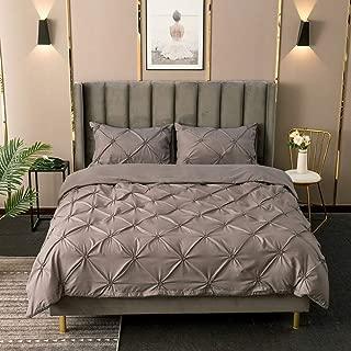 YUNSW Conjunto Funda Nórdica Blanca Luxury Plier Fold Color Sólido Doble Queen King Size Sets Uso En El Hogar D 180x210cm