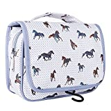TaylorHe Waterproof Travel Toiletry Bag Hanging Wash Bag Bathroom Organiser Large Capacity Majestic <span class='highlight'><span class='highlight'>Horses</span></span> Grey