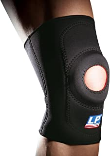 LP SUPPORT 708 - Standard Knee Support - Neoprene Knee Brace - Relief for Arthritis, Mild Sprain, Strain - Open Patella Sleeve for Patella Instability (Black, S/XS)
