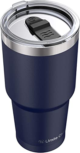 lowest Stainless discount Steel Tumbler with Lid, 30oz Insulated Travel Tumbler Mug by Umite Chef, Insulated Coffee Mug, Double Wall Water Coffee Cup for Home, Office, School, Ice outlet sale Drink, Hot Beverage(Navy) outlet sale