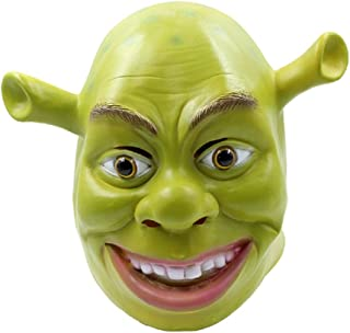 Shrek Mask Costume Mask Halloween Cosplay Full Head Green Adult Shrek Mask Latex