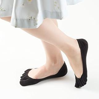 フットカバー レディース 5本指 靴下 4色セット ソックス 脱げない 蒸れ防止 カバーソックス [nagomi]