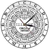 Reloj De Pared Reloj De Pared Cocina Circle Of Fifths Stave Músico Compositor Regalo Enseñanza De Música Reloj De Cuarzo Colgante Moderno Teoría De La Armonía Estudio De Música Reloj De Pared Adecuado