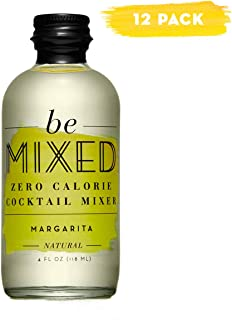 Zero Calorie Margarita Cocktail Mixer by Be Mixed, Low Carb, Keto Friendly, Sugar Free and Gluten Free Drink Mix, 4 Fl Oz Glass Bottles, Pack of 12