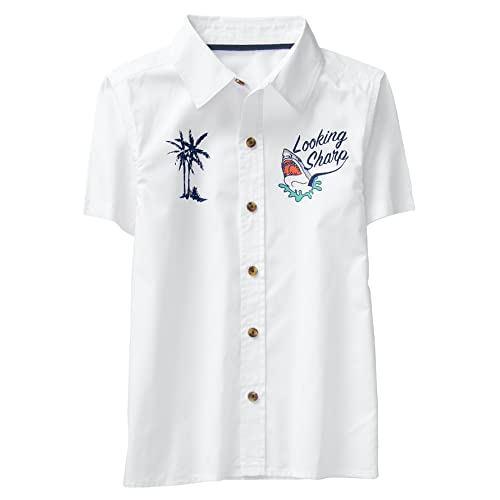 8ea1e9d35 Crazy 8 Boys' Short Sleeve Woven Button Down Tee