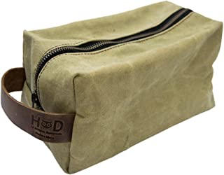 Travel Dopp Kit for Toiletries Handmade by Hide & Drink :: Waxed Canvas
