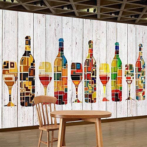 3D behang muurschildering abstracte platte wijnglas achtergrond wanddecoratie schilderij woonkamer slaapkamer muurschildering-200 * 140cm