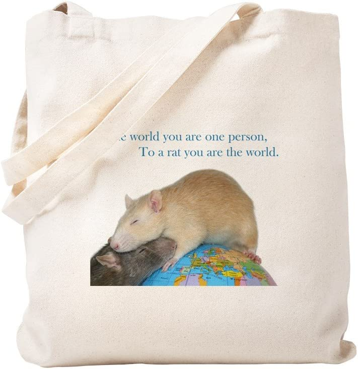 CafePress World Rat Day Tote Bag Natural Canvas Tote Bag, Reusable Shopping Bag