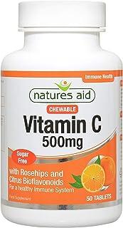 Natures Aid Vitamin C 500 mg, 50 Tablets
