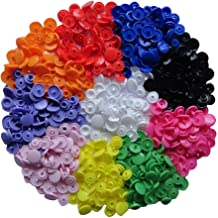 """150 Complete Sets KAM Snap Kits Plastic Resin Snap Fastener Buttons KAM T5 Size 20 (1/2"""") Assorted Rainbow Colors"""