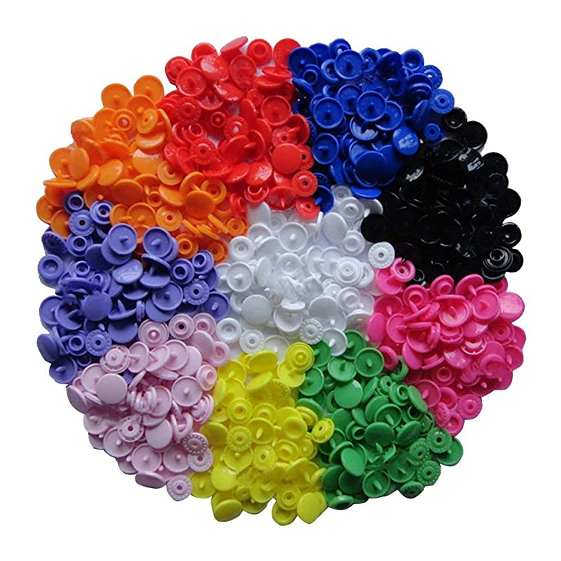 150 Complete Sets KAM Snap Kits Plastic Resin Snap Fastener Buttons KAM T5 Size 20 (1/2
