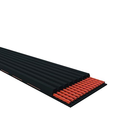 0.86 Width 86.25 Length D/&D PowerDrive 855K6 Poly V Belt