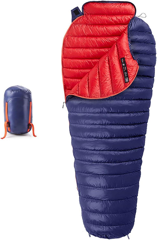 Erwachsene Daunenschlafsack Mumienschlafscke Tragbarer ultraleichter Campingschlafsack, der wasserdicht und atmungsaktiv ist
