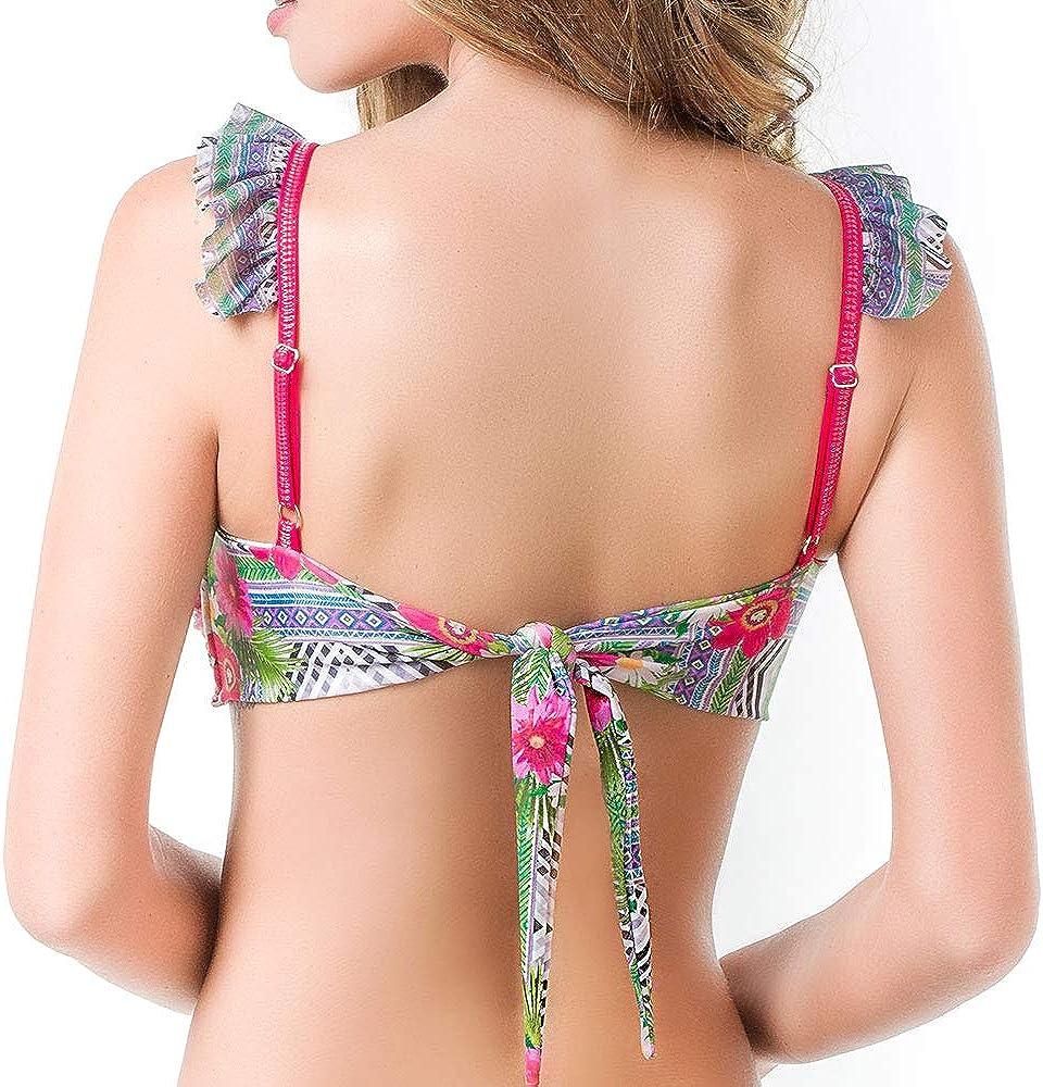 handgefertigt mehrfarbig MAR DE ROSAS Damen-Bikini Mix and Match, Oberteil und Hose separat erh/ältlich